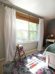 Master Bedroom Windows | If you wanted to jazz them up you could add ribbon trim with fusible ...