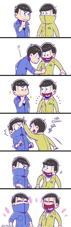 Karamatsu and Jyuushimatsu; so sweet ^^
