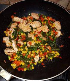 Csirkemell mexikói zöldséggel