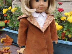 Autum is Here coat for American Girl / 18 inch dolls by momawake, $12.00