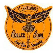 Roller Bowl - Cleveland, Ohio Looks to be long, long gone. We use to skate here every weekend. Roller Skating Rink, Roller Rink, Roller Derby, Roller Disco, Roller Skating Pictures, Vintage Labels, Funny Vintage, Vintage Ads, Vintage Signs