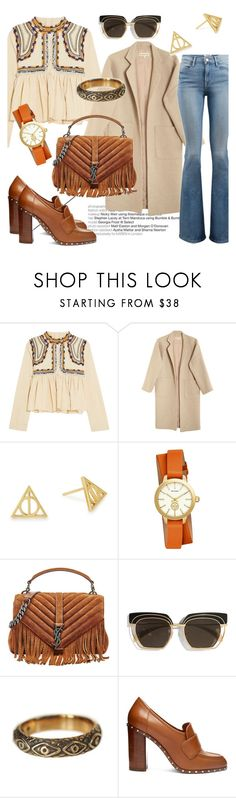 """""""Bohemian Style"""" by elenzark ❤ liked on Polyvore featuring Isabel Marant, Mara Hoffman, Alex and Ani, Tory Burch, Yves Saint Laurent, Safilo, Pamela Love, Valentino and Frame"""