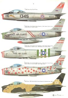 Aircam Aviation Series North American f- - l sabre in usaf and foreign service Military Jets, Military Aircraft, Air Fighter, Fighter Jets, Sabre Jet, Old Planes, Aircraft Painting, Military Equipment, Nose Art
