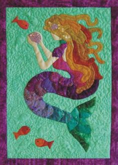 Mermaid applique.