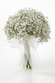 Gypsophila flowers bridal bouquet by Saltodemata on @creativemarket