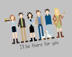 Friends TV Show Cross Stitch PATTERN PDF Instant by FrigidStitch