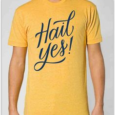 Hail Yes! University of #Michigan T-shirt  | #lettering by @kdroz for Rock Paper Scissors  #GoBlue