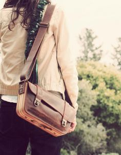 Leather and Wood bag