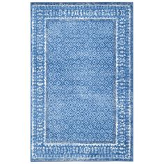 Make a stylish statement in your living room or master suite with this lovely rug, showcasing a traditional print in blue and silver....