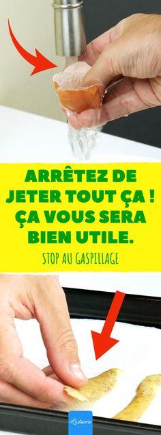 Arrêtez de jeter tout ça ! Ça vous sera plus utile. Stop au gaspillage.  #astuces #zero #dechet #gaspillage #ecolo #epluchures #oeuf #calcium