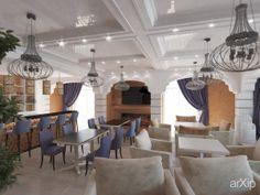 Дизайн интерьера ресторана в Гурзуфе от Кучеренко Александры: интерьер, зd визуализация, неоклассика, ресторан, кафе, бар, 80 - 100 м2, зал, интерьер #interiordesign #3dvisualization #neoclassicism #restaurant #cafeandbar #80_100m2 #hall #interior arXip.com