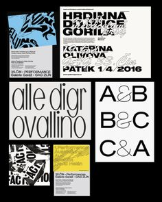 Interesting type and design work from Manchester based Jozef Ondrik.