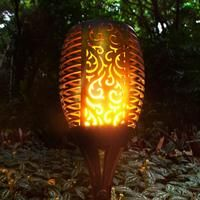 Beautify your patios, lawns and driveway with these Solar Torch Lights. They charge all day and light up at night automatically with a flame effect. Backyard Solar Lights, Backyard Lighting, Outdoor Lighting, Exterior Lighting, Outdoor Decor, Tiki Lights, Flame Design, Torch Light, Led Light Strips