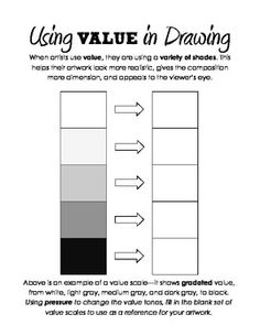 Value & Shading Handout with Value Scale