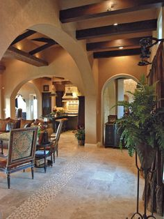 Mediterranean Dining Room Design, Pictures, Remodel, Decor and Ideas - page 18