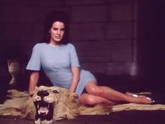 Lana plays Jackie O in a scene from the video