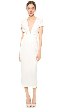vionnet short sleeve dress