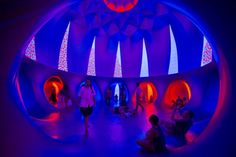 Exxopolis' Trippy, Colorful Inflatable Domes At Grand Park in Downtown LA