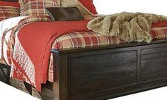 Grayish Brown Townser Queen Panel Bed with Storage View 2 Dreams Bed Frames, Ashley Store, Bedroom Furniture, Home Furniture, Sleigh Beds, Panel Bed, Bed Storage, Coastal Style, New Homes