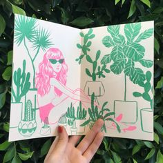 Just a zine about girls and plants! 5 x 8 12 pages cream paper risograph printed in neon pink and green by Tiny Splendor in Los Angeles, CA edition of 75 Art And Illustration, Illustrations, Sketchbook Inspiration, Art Sketchbook, Posca Art, Art Graphique, Grafik Design, Art Inspo, Screen Printing
