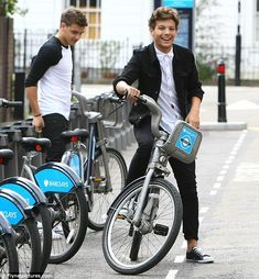 So excited about the new Philly Bike Share program! Here, Liam Payne and Louis Tomlinson from One Direction take advantage of a similar bike share system across the pond!