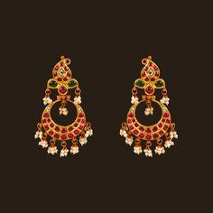 Gold Chand Bali (108A38166)   Vummidi Bangaru Jewellers