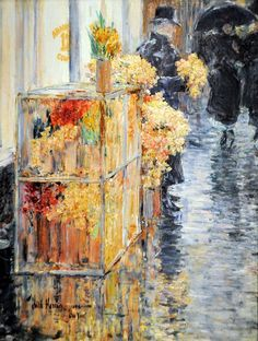 Childe Hassam - The Flower Seller at Boston Museum of Fine Arts by mbell1975, via Flickr: