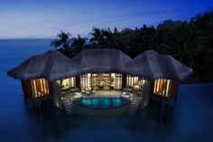 Song Saa Private Island, Cambodia.  25 villas falling into 3 categories - Rainforest, Beach and Overwater - and each comes with its own plunge pool and sundeck overlooking the sea.  Bookl an ultra-luxe Overwater Villa. Song Saa Private Island, Cambodia, Koh Ouen, Sihanoukville, Cambodia  All-New Asia