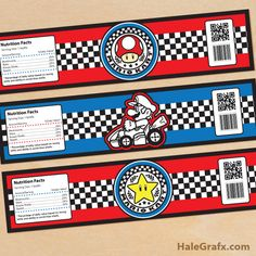 Click here to download FREE Printable Mario Kart Water Bottle Labels!