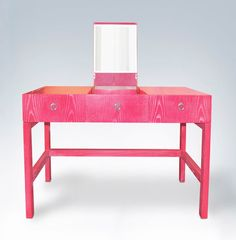 such a cool vanity for a girl's room!