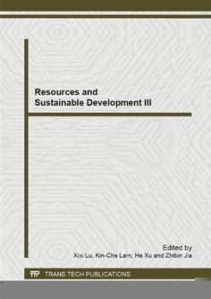Resources and Sustainable Development III