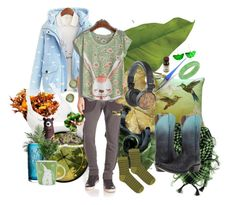 """""""Evergreen"""" by amanda-anda-panda ❤ liked on Polyvore featuring Dot & Bo, Improvements, Beauty & The Beach, WALL, Bling Jewelry, Diesel Black Gold, Pillow Decor, Nearly Natural, Kosta Boda and Ariat"""