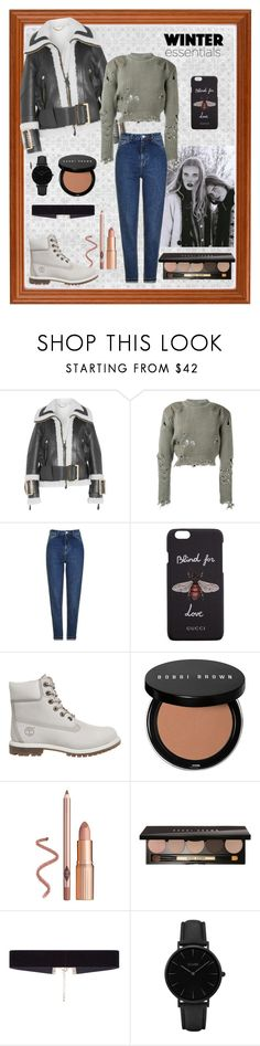 """Rebel, Rebel You've Torn Your Top"" by carotomboy ❤ liked on Polyvore featuring Burberry, adidas Originals, Topshop, Gucci, Timberland, Bobbi Brown Cosmetics, 8 Other Reasons and CLUSE"