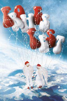 Ausschnitt einer Weihnachtskarten-Illustration von Cornelius Schödl / CosmosMedia Poster, Illustration, Outdoor Decor, Home Decor, Christmas Cards, Neckline, Christmas, Decoration Home, Room Decor