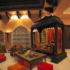 Moroccan Style - something like this would be really great in a sun room