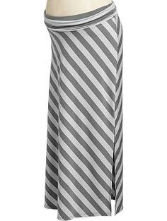 Old Navy maternity maxi skirt-- wonder if the local thrift shops would have similar skirts!
