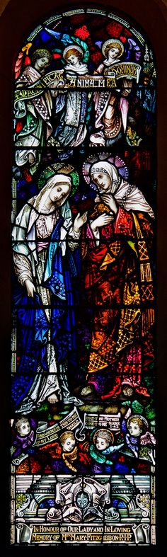 The Visitation - SS. Peter and Paul's Church, Clonmel, Ireland. #StainedGlassChurch