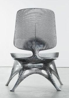 "y-10: ""  Joris Laarman Lab | Microstructures (Aluminum Gradient Chair) | 2014 """