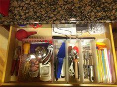 Organizing Kitchen Drawers.