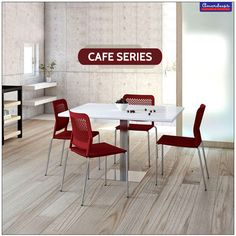 High or low, with or without armrests, this #CafeSeries has an array of options that lets you choose one to suit your requirements. #Chairs