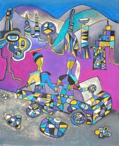 """ On the road ""   Mane Abrahamyan;   #art  #abstract #abstractart #contemporaryart #painting #colourfulpainting #artwork #maneabrahamyan #armenia #armenianartist #armenianart #art #gallery #modern #modernism"