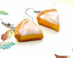 Kawaii Cake Earrings, Polymer Clay Pie Earrings, Polymer Clay Jewelry Food, Kawaii Polymer Clay Charm, Kawaii Jewellery, Jewelry