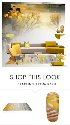 """""""Yellow Sky"""" by snowbell ❤ liked on Polyvore featuring interior, interiors, interior design, home, home decor, interior decorating, Freestyle, Linie Design, Cassina and iittala"""