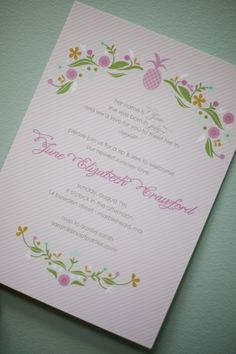 This is a busier invite than I would normally do, but I love it. May inspire me to try to busy-up my next design!