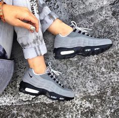 "3,295 Likes, 307 Comments - TRNDST (@trndst.co) on Instagram: ""#TRENDINSPO: Air Max 95 - Wolf Grey/Black """