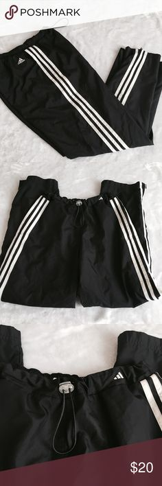 Adidas Pants ✨ Full length Adidas pants - Classic - Pull tab waist - Zipper at the ankle - Has pockets ✨ adidas Pants