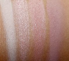 Urban Decay Naked3 swatches from the left: Strange, Dust, Burnout and Limit, November 2013