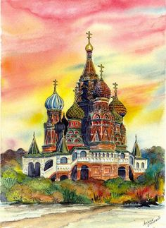 Wanderlust Europe — Moscow, an illustration