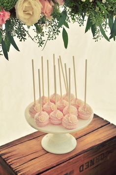 Cake Pops from a Rustic Chic Engagement Party via Kara's Party Ideas | KarasPartyIdeas.com (40)