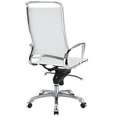 Vibe Modern Leather Highback Office Chair White | Modern Office Chair by Modway at Contemporary Modern Furniture  Warehouse - 3